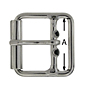 Double Bar Roller Buckle, Stainless