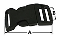 Contoured-side-release-buckle-secondary