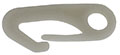 Plastic Snap Hook, Rigid Eye, White